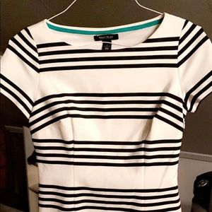 Black and white striped formal shirt